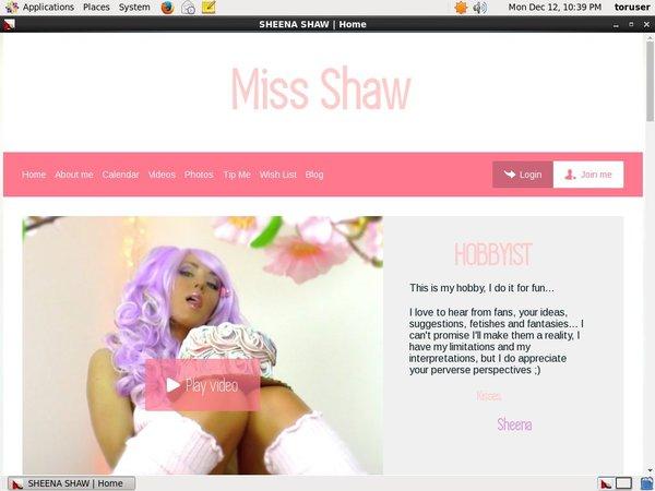 SHAW SHEENA Porn