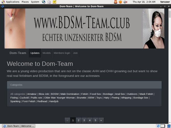 Domteam User Pass